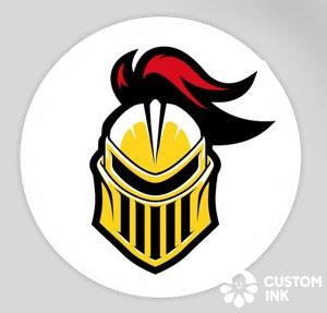Round Knights Helmet Magnet